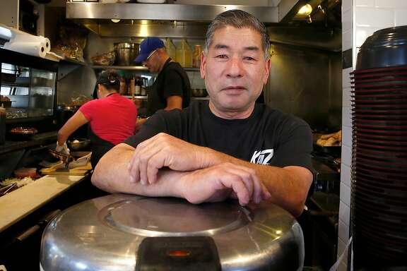 Owner Kaz Suruki  shows his business Kaz Teriyaki Grill on Tuesday, September 26, 2017, in San Mateo, Calif.