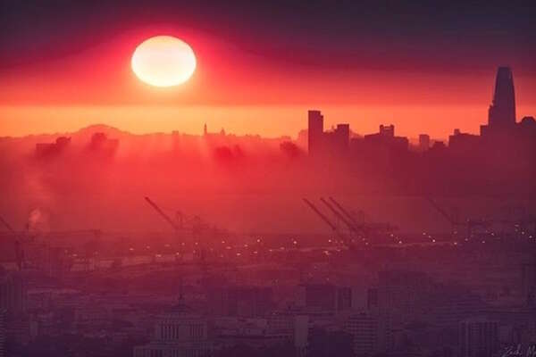 People shared photos of the hazy glow smoky skies cast over the Bay Area on the week of Monday, Oct. 9, 2017.