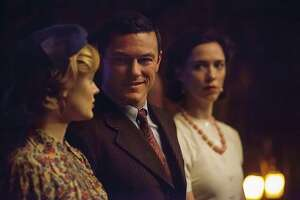 "Rebecca Hall, Luke Evans, and Bella Heathcote in ""Professor Marston and the Wonder Women"" (2017) credit: Claire Folger"