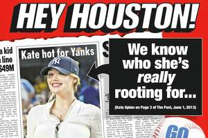 This ad from the New York Post featuring Kate Upton runs in Saturday's Houston Chronicle. Upton is engaged to Houston Astros pitcher Justin Verlander.