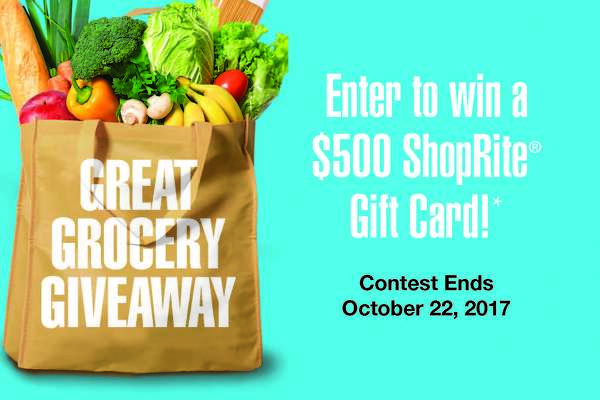 Enter to win a ShopRite gift card.