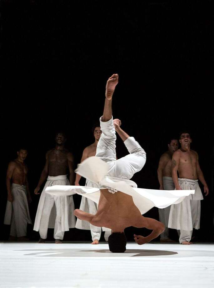 """Company Hervé Koubi, an all-male """"acrobatic"""" dance group from France, visits the Quick Center for the Arts on Thursday, Oct. 19, in Fairfield. Photo: Didier Philispart / Contributed Photo"""