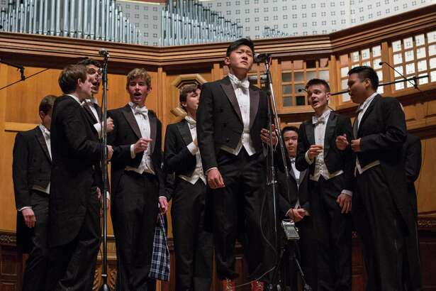 The Spizzwinks, a male a cappella group at Yale, will be performing in Cheshire and Westport.