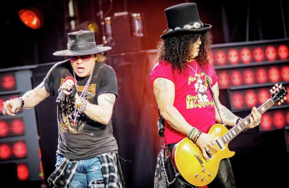 """Guns N' Roses will perform at the XL Center in Hartford on Monday, Oct. 23. Axl Rose and Slash perform during the """"Not in This Lifetime Tour"""" in August in Ottawa, Canada. Photo: Mark Horton / Getty Images / © Mark Horton"""