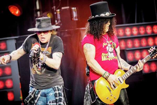 """Guns N' Roses will perform at the XL Center in Hartford on Monday, Oct. 23. Axl Rose and Slash perform during the """"Not in This Lifetime Tour"""" in August in Ottawa, Canada."""