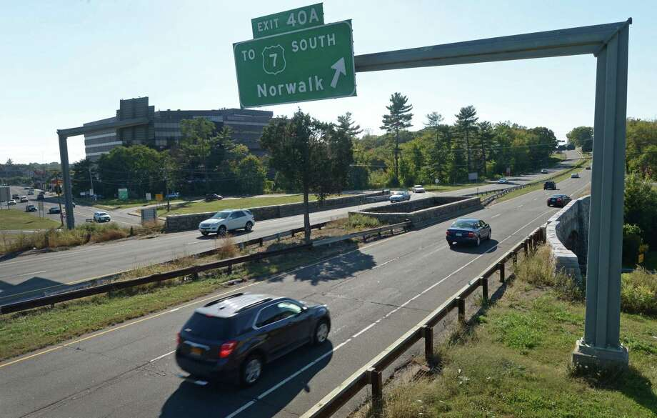 The Route 7/Main Avenue-Merritt Parkway interchange Thursday, October 12, 2017, in Norwalk, Conn. The Connecticut Department of Transportation will hold a public scoping meeting in Norwalk on Tuesday, October 17, to update the public and answer questions about the long-delayed overhaul of the Route 7-Merritt Parkway overhaul. In the works for two decades, the project was first halted by a lawsuit by the Merritt Parkway Conservancy and later by the 2008 recession. Photo: Erik Trautmann / Hearst Connecticut Media / Norwalk Hour