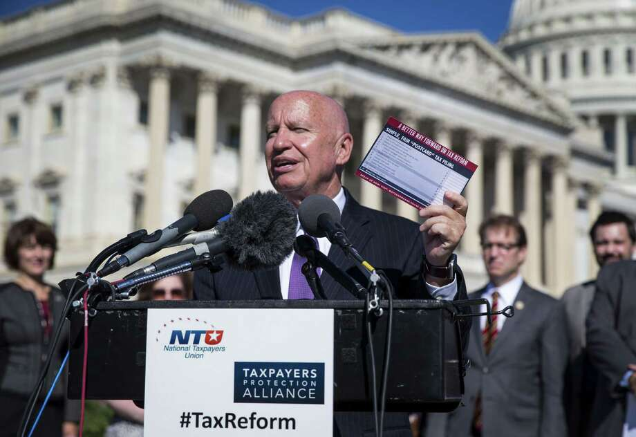 Rep. Kevin Brady, R-The Woodlands, chairman of the House Ways and Means Committee, will be one of the sponsors of a major tax reform bill next week. Photo: AL DRAGO /NYT / NYTNS