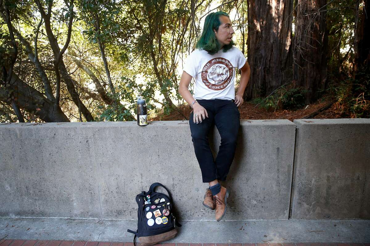 Enrique Yarce waits for his class on healthcare inequalities to start at UC Santa Cruz on Thursday Oct. 5, 2017. Yarce, who immigrated to the U.S. with his family when he was three years old and qualifies under the DACA act, is concerned about his uncertain future