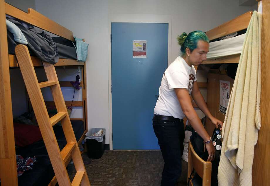 The dorm room that should be a double that is now a triple because there's a massive housing shortage on campus. Photo: Paul Chinn, The Chronicle
