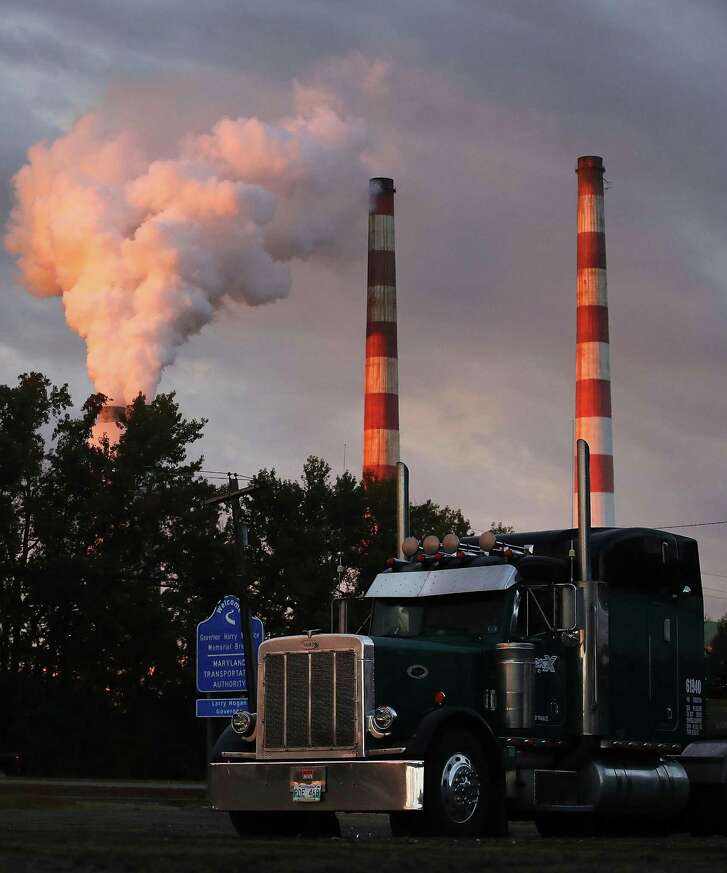 Emissions spew from the coal-fired Morgantown Generating Station on Tuesday in Newburg, Md. Environmental Protection Agency Director Scott Pruitt took steps to repeal President Barack Obama's policy to curb greenhouse gas emissions from power plants last week.