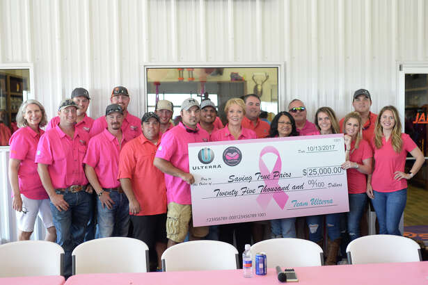 "Annual ""Saving True Pairs"" clay shoot to benefit Pink The Basin on Oct. 13, 2017, at Jake's Clays. The event raised more than $150,000 dollars. James Durbin/Reporter-Telegram"