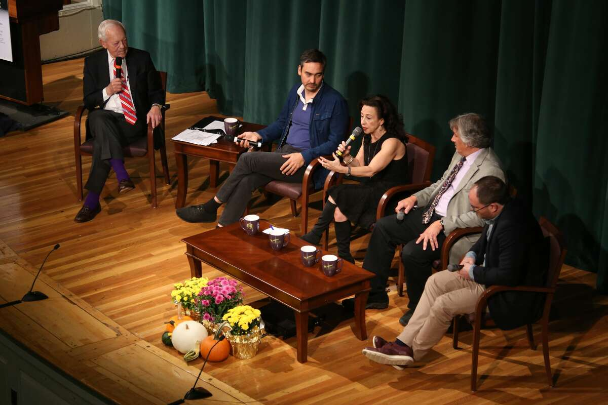 """The New York Writers Institute kicked off their """"Telling the Truth in a Post-Truth World"""" symposium on Oct. 13, 2017, at the University at Albany with a panel discussion on media in the age of new technology."""