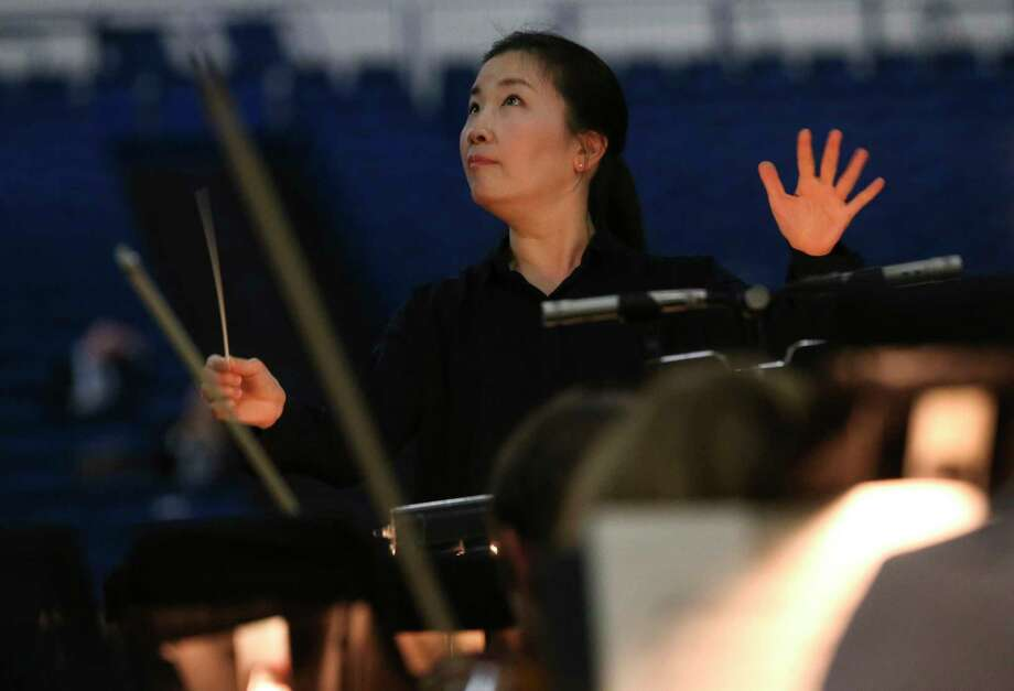"""Eun Sun Kim will be conducting the orchestra from behind the stage for """"La Traviata."""" Photo: Yi-Chin Lee, Houston Chronicle / © 2017  Houston Chronicle"""