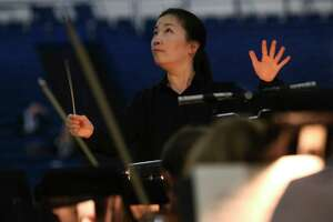 """Eun Sun Kim will be conducting the orchestra from behind the stage for """"La Traviata."""""""