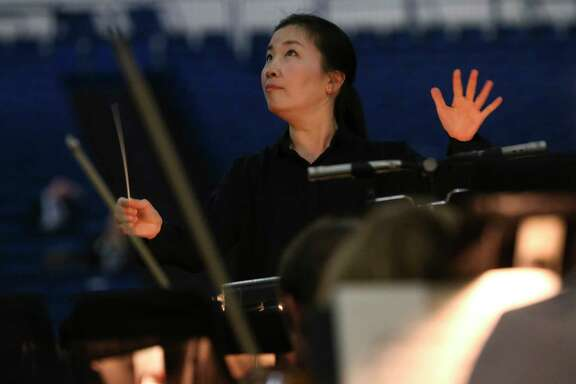 "Eun Sun Kim will be conducting the orchestra from behind the stage for ""La Traviata."""