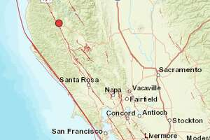 A 4.0-magnitude quake struck north of Ukiah on Friday, October 13, 2017.