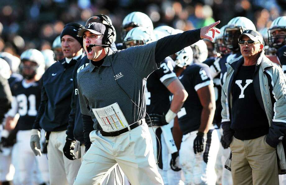Coach Tony Reno and the Yale football team will take on Holy Cross today at Yale Bowl. Photo: Hearst Connecticut Media File Photo