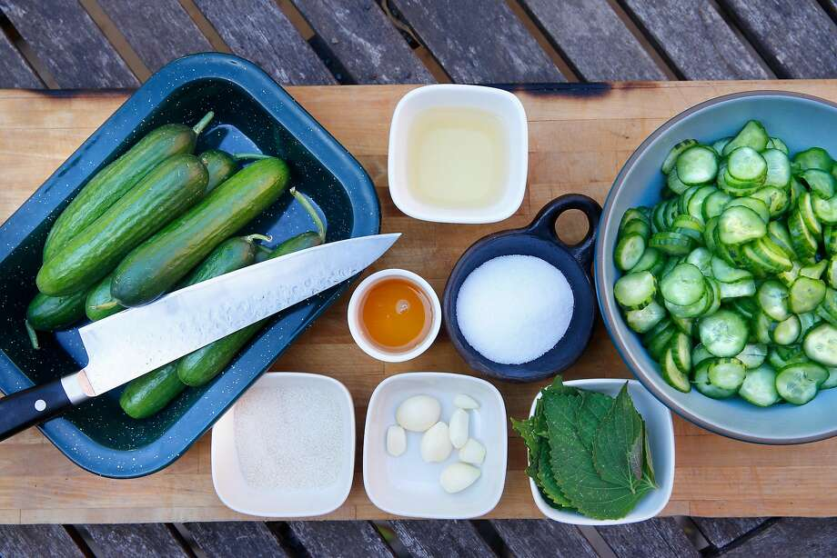 Ingredients for the marinated cucumber salad, or namul. Photo: Michael Macor, The Chronicle
