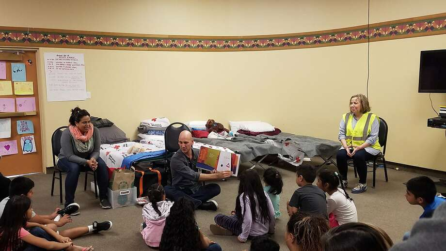 Marin County has offered up a series of art and music activities for the hundreds of evacuees staying at the Marin Center in San Raphael. Photo: Courtesy Of The County Of Marin