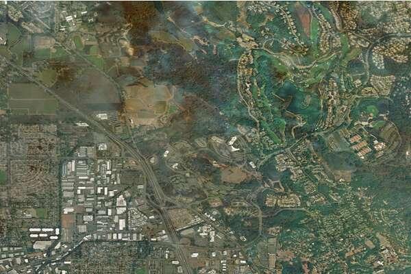 BEFORE THE FIRE   A satellite image of Santa Rosa, California taken June 21, 2017.