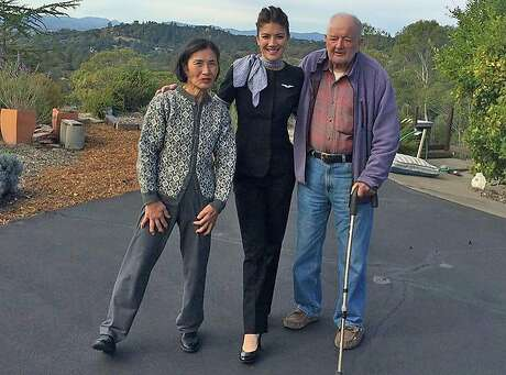 Arthur Grant, right, and Suiko Grant, left, with their daughter Trina. Arthur and Suiko perished in the Tubbs fire in Santa Rosa on October 9, 2017.