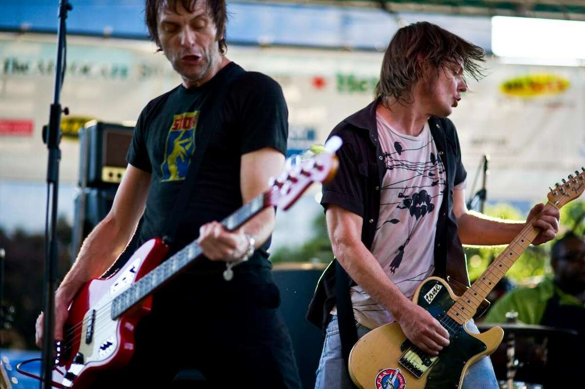 Soul Asylum's Tommy Stinson, left, and Dave Pirner open the Alive at Five concert series in Columbus Park in Stamford, Conn., Thursday, June 24, 2010.