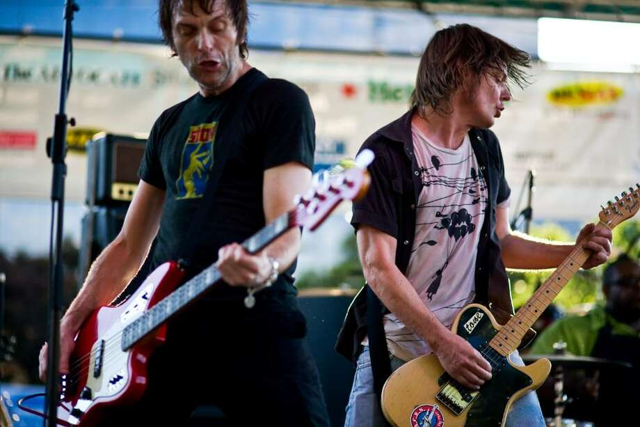 Soul Asylum's Tommy Stinson, left, and Dave Pirner open the Alive at Five concert series in Columbus Park in Stamford, Conn., Thursday, June 24, 2010. Photo: Andrew Sullivan / Stamford Advocate Freelance
