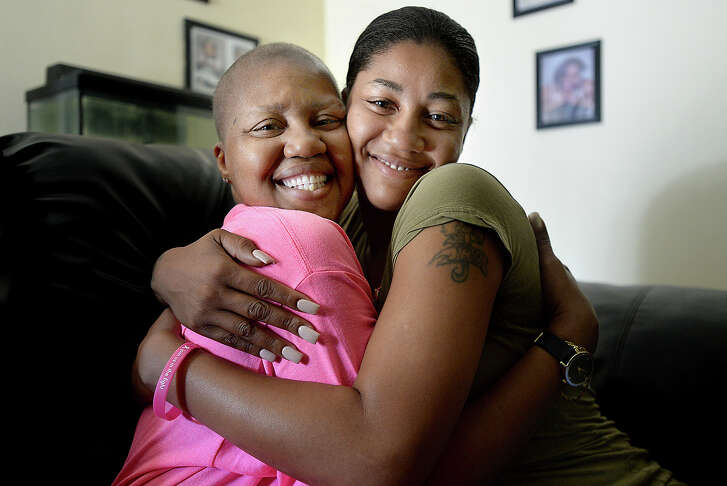 Nicole Harrison of Beaumont says daughter Rakeesha Harrison played a large part in her recovery. Rakeesha came every day to help her mother as she went through treatment forbreastcancer.