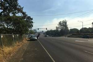 Smoke billowed from the hills just east of Santa Rosa on Saturday, prompting new road closures and evacuations on the city's east side.
