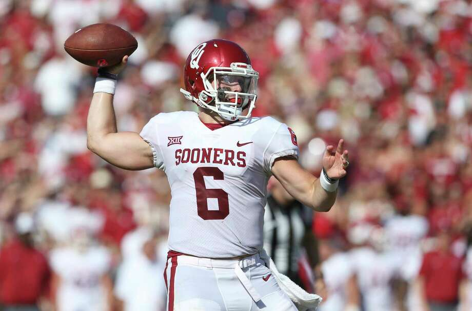 Sooner quarterback Baker Mayfield on Saturday will take on Texas Tech, where he began his college career as a walk-on. Photo: Tom Reel, San Antonio Express-News / 2017 SAN ANTONIO EXPRESS-NEWS