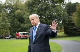 President Donald Trump heads to Marine One shortly after he announced that he will not certify Iran�s compliance with the nuclear deal that was negotiated by his predecessor, Barack Obama, at the White House in Washington, Oct. 13, 2017. (Doug Mills/The New York Times)