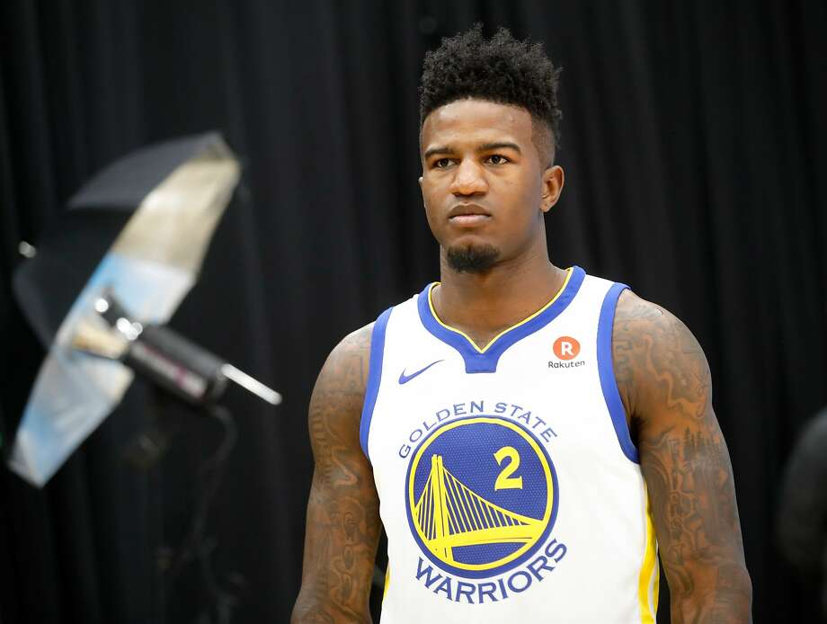 Warriors' Jordan Bell during 2017 media day for the NBA's Golden State Warriors in Oakland, Ca., on Friday September 22,  2017. Photo: Michael Macor, The Chronicle