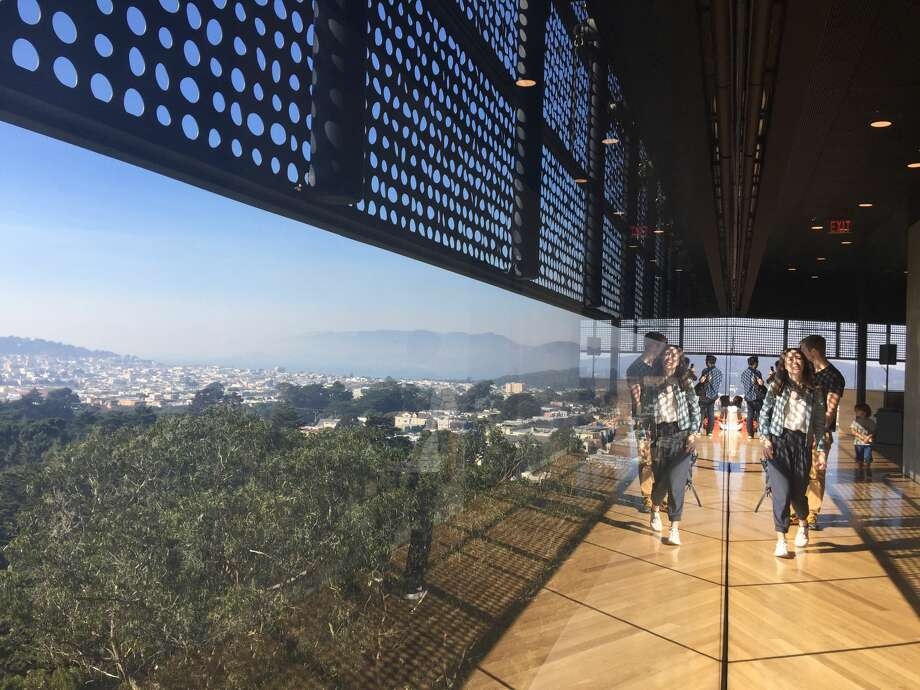 Take in the views at the Hamon Tower Observation FloorMissed a free day at the de Young? Everyone's welcome in the Hamon Tower, a free spot to take in amazing views of the city and Golden Gate Park. The tower is open whenever the museum is. Photo: Aidin Vaziri/The Chronicle