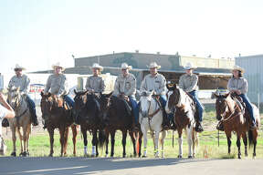 Midland County Sheriff's Office mounted patrol at the annual Block Party hosted by Midland and Odessa law enforcement agencies Oct. 14, 2017, at the Commemorative Air Force hangars. James Durbin/Reporter-Telegram