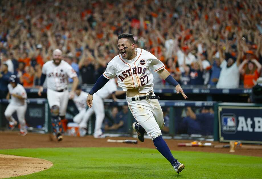 What is it about Jose Altuve? Something built the way he's built should not be able to do the things he does, but he's the best ballplayer in the world. Photo: Brett Coomer/Houston Chronicle