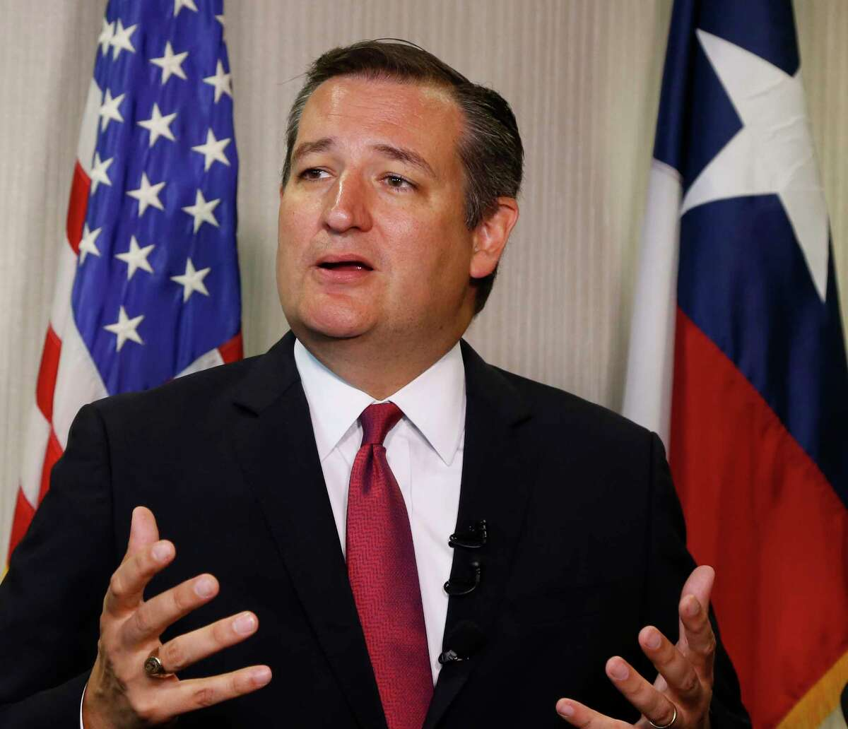 Ted Cruz address the media before speaking at a congressional series luncheon at the Marriott Riverwalk on Monday, August 20, 2017