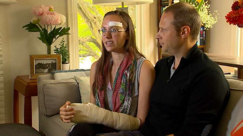 A West Seattle mother is still recovering from several stab wounds after she was attacked in broad daylight Monday. Photo: KOMO News