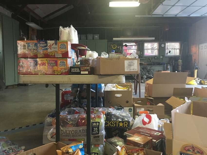 Feeding the troops: The food supplies inside Cal Fire's Glen Ellen station on October 14, 2017