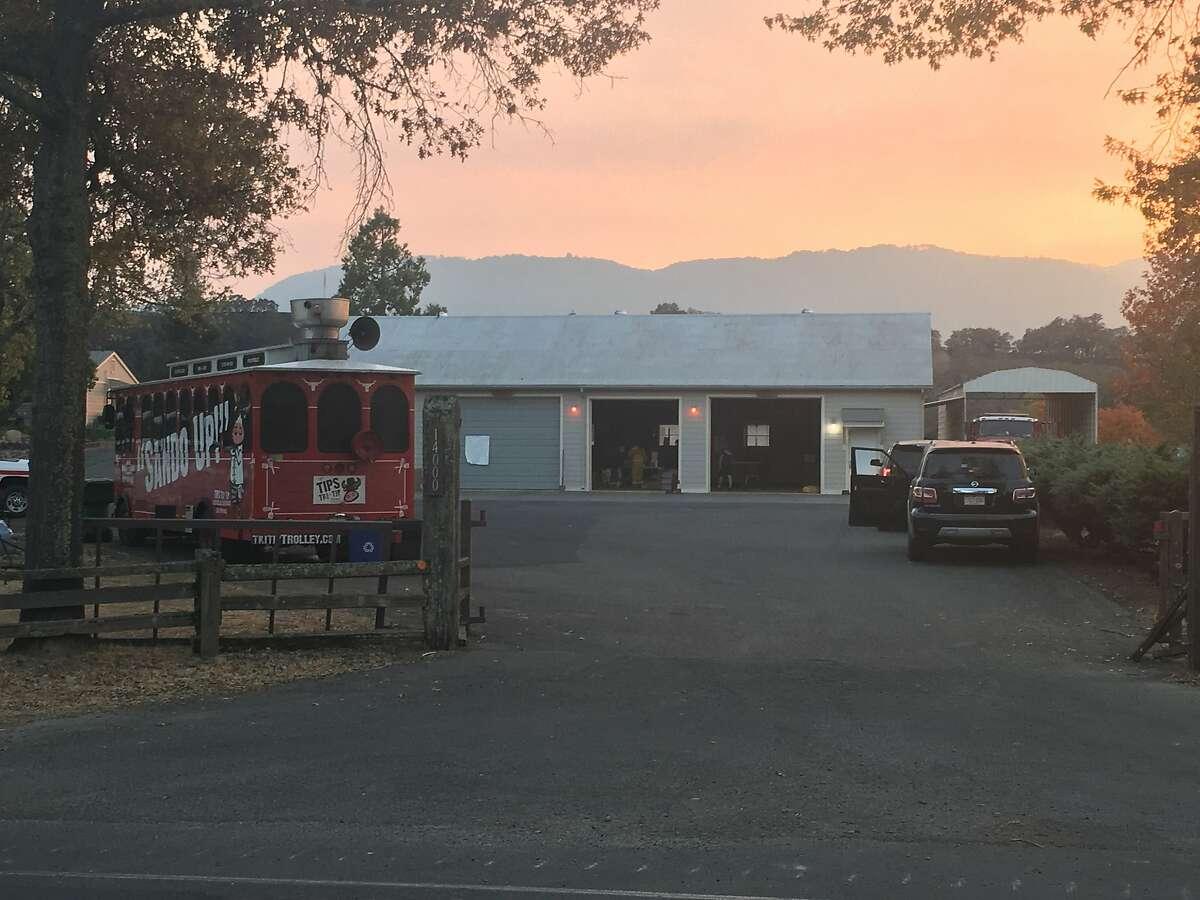 The Cal Fire outpost in Glen Ellen on October 14, 2017
