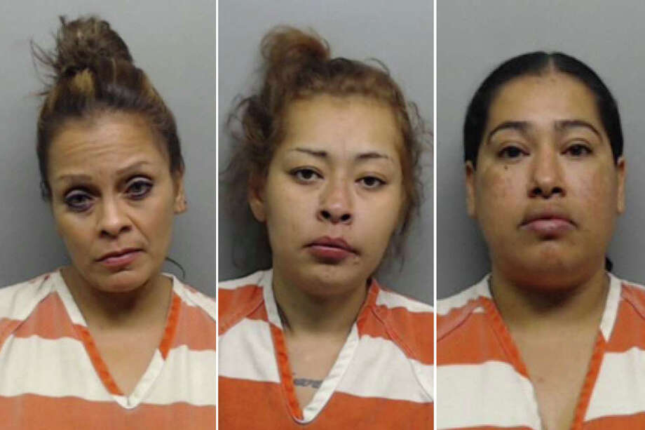 These three women were arrested after allegedly assaulting a woman in central Laredo. Photo: Webb County Sheriff's Office/Courtesy