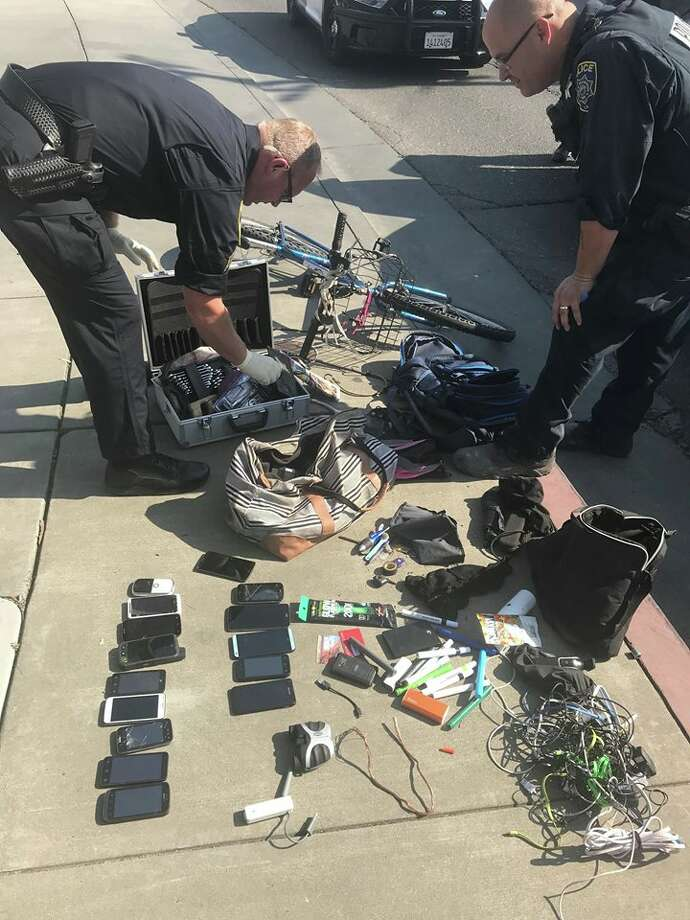 Police arrested a man Saturday afternoon in Santa Rosa after he allegedly stole items from residents who had evacuated their homes due to the fires. Photo: Santa Rosa Police Department