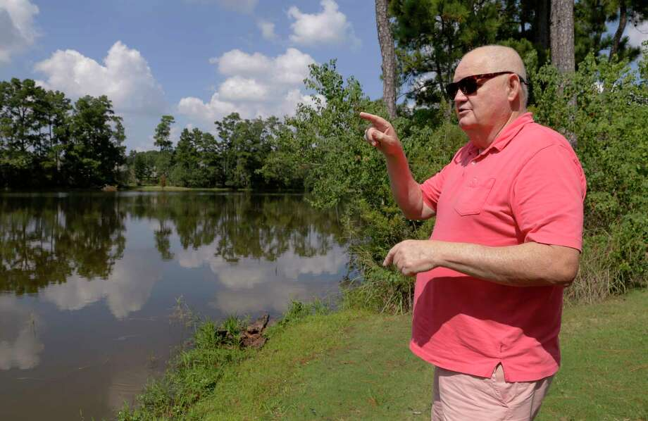 Timarron Lakes resident Frank Gore, whose home has flooded twice in three years, says he and other homeowners who pay property taxes to MUD 386 shouldn't have to also pay the bill for what he said was a drainage system that didn't work. Photo: Michael Wyke, Freelance / © 2017 Houston Chronicle