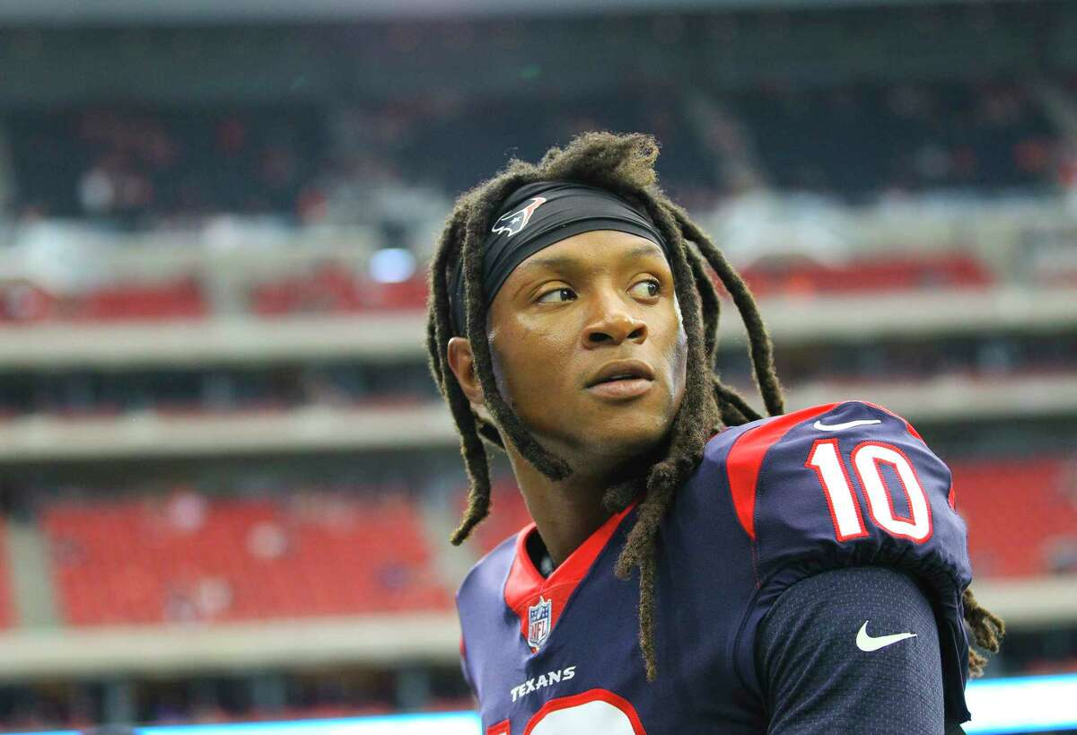 Texans wide receiver DeAndre Hopkins (10) missed practice on Friday to take a 'personal day.'