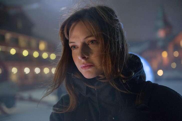 """REBECCA FERGUSON in the terrifying thriller """"The Snowman."""""""