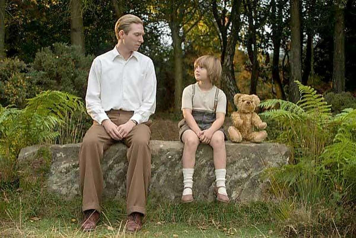 """(L-r) Domhnall Gleeson and Will Tilston in """"Goodbye Christopher Robin."""" MUST CREDIT: David Appleby, Fox Searchlight Pictures"""