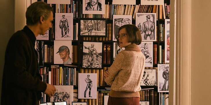 Pekka Strang and Jessica Grabowsky in a scene from Tom of Finland.