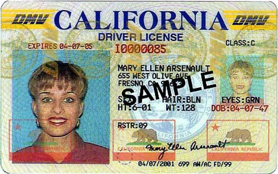 A sample California driver's license. Photo: Handout