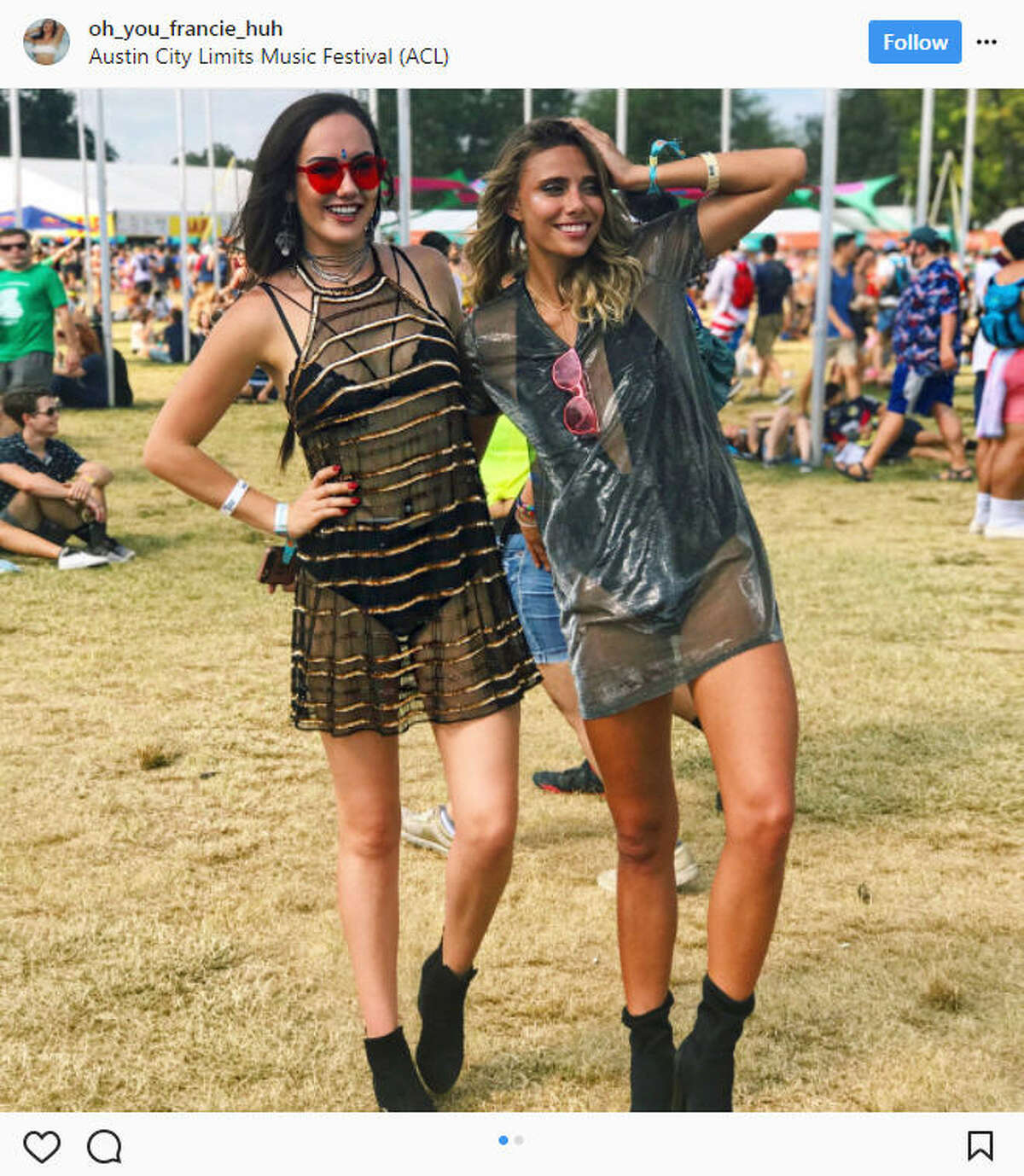 Thousands of people flocked to Zilker Park in Austin for the annual Austin City Limits Music Festival during the first two weekends of October 2017.Source: Instagram