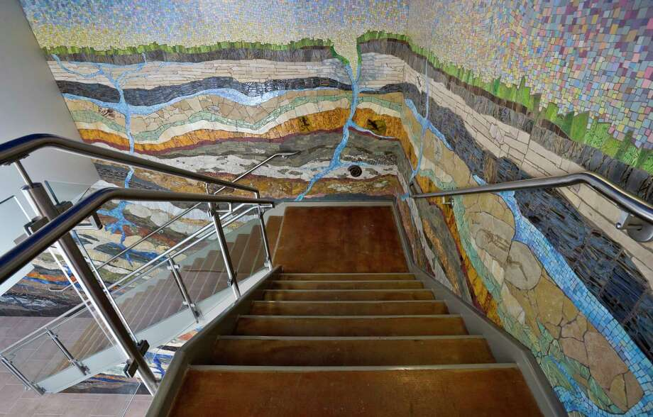 "One of The Woodlands' hidden mosaic gems, ""Strata,"" by Houston-based artist Dixie Friend Gay. Photo: Submitted"