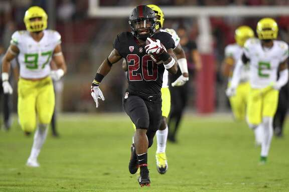 Stanford running back Bryce Love added to his Heisman Trophy résumé during the Cardinal's 49-7 rout of Oregon on Saturday night, scoring on a 67-yard run in the first quarter and finishing with 147 yards rushing.